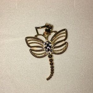 NIB 14K Gold Dragonfly Charm